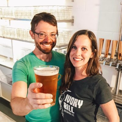 Casey Letellier and Dorothy Hall, founders of Ivory Bill Brewing Company in Siloam Springs, Arkansas