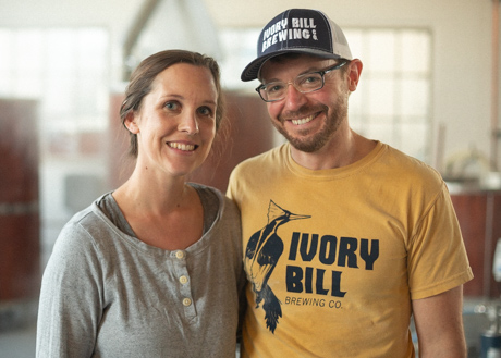 Ivory Bill Brewing owners Dorothy and Casey